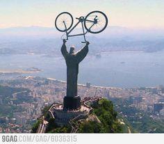 Jesus Christ and Bike.