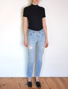 90's Levi's 501 jeans with holes highwaisted by WoodhouseStudios