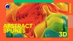 Abstract Spline Effect in C4D - Cinema 4D Tutorial (Free Project) - YouTube Cinema 4d Tutorial, 3d Tutorial, Cinema 4d Free, Blender Tutorial, Motion Design, Design Tutorials, Cool Things To Make, Typography Design, Concept Art