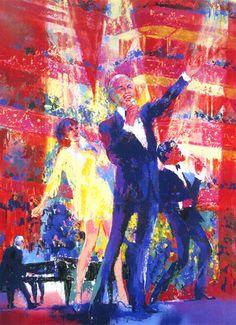 Frank, Liza and Sammy at Royal Albert Hall | LeRoy Neiman #leroyneiman