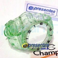 Pulseira Champion Avulsa VERDE TRANSPARENTE GLITTER PR30619B