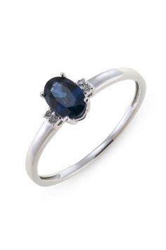 Ring met saffier en diamant R01-BS-004