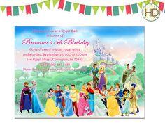 Disney Prince And Princess Invitation Printable Disney