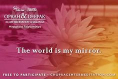 What you see in others is a reflection of you...  <3 Inspired-Nourishment.com  #healthcoach #meditation #deepakchopra