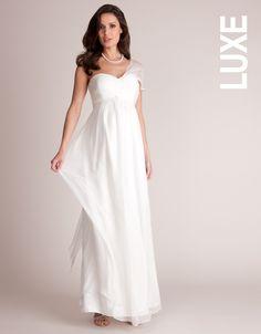 Grecian Maternity Wedding Dress / Gown