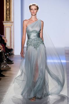 View all the catwalk photos of the Zuhair Murad haute couture spring 2013 showing at Paris fashion week.  Read the article to see the full gallery.