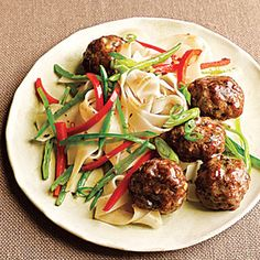 Wide rice noodles are available on the ethnic-foods aisle at most major supermarkets and at Asian grocers. If you can't find them, any rice noodle or even spaghetti will work in this dish. You can also use ground sirloin, if you can't find pork.