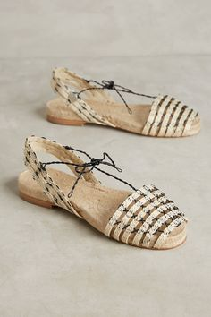 Ball Pages Open-Toe Espadrilles