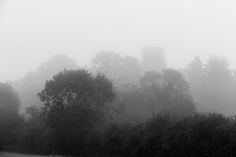 Foggy Monochrome Bolnhurst church, Bedfordshire, Weather Photography, Landscape…