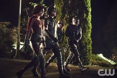 """#Arrow 4x10 """"Blood Debts"""" - Thea/Speedy, Oliver/The Arrow, Laurel/Black Canary and Diggle"""