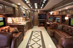 2013 Entegra Cornerstone...The top of the line Entegra Class A Motorhome! And to think this fails in comparison to what NASCAR/F1 Drivers live in!