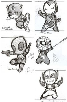 Fantastic Learn To Draw Comics Ideas Drawing Marvel Comics chibi heroes Drawing Cartoon Characters, Cartoon Cartoon, Chibi Characters, Cartoon Sketches, Character Drawing, Drawing Sketches, Drawing Tips, Drawing Cartoons, Learn Drawing