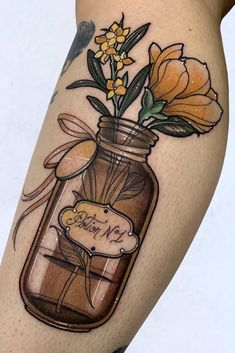 A collection of beautiful floral tattoo inspiration and ideas, including this flower bouquet tattoo. #floral #floralart #floraltattoo #tattoo #tattoos #botanical #botanicalart #botanicaltattoo #flowers #flowertattoos #butterflytattoo #butterflyart #handtattoos #leaftattoo