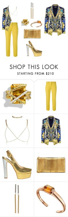 """Summer16 Fin #287"" by missactive-xtraordinary ❤ liked on Polyvore featuring David Yurman, Versace, John Richmond, Tom Ford and Bulgari"