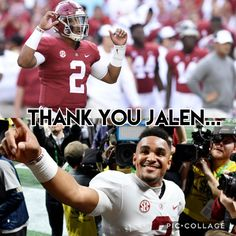 Thank You for Everything You Did While in Tuscaloosa. I Wish You All The Best with See You in the 2020 CFB National Championship. Roll Tide Football, Ou Football, Crimson Tide Football, Best Football Team, Alabama Crimson Tide, Football Season, Alabama Football Funny, Univ Of Alabama, Jalen Hurts