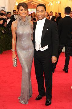 Chrissy Teigen & John Legend in Ralph Lauren Met Ball 2014