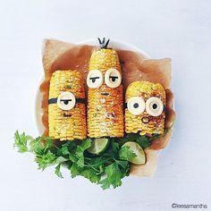 Cute minion corn! From LeeSamantha food stylist.