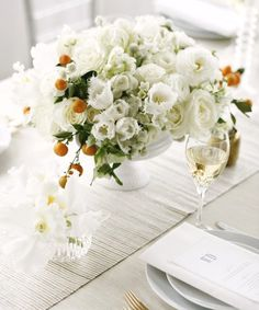 truly lovely white centerpiece