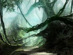Ancient Jungle, by jjpeabody on Deviant Art. The Hedge is not a welcoming place.