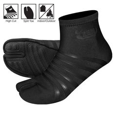 Ninja shoes or flip flop socks Martial arts gear. High Shoes, Black Shoes, Men's Shoes, Shoe Boots, Tactical Clothing, Tactical Gear, Samurai, Ninja Gear, Female Ninja