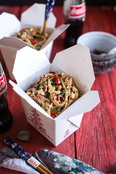 Spicy Sesame Basil Noodles