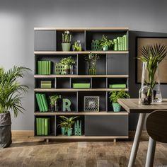 Vox Balance Modular Bookcase in Grey & Oak Effect Versatile Furniture, Grey Oak, Creative Bookshelves, Furniture, Bookcase, Home, Pallet House, Shelving, Home Decor