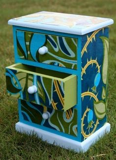 Mod Podge Gift Chest Idea For the end table in my office