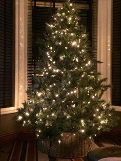 Wicker skirt Christmas tree