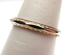 14k Two Tone Faceted Carved Band by KlinesJewelry on Etsy