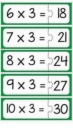 18 Ideas De Rompecabezas De Tablas Actividades De Multiplicación Tablas De Multiplicar Matematicas Primero De Primaria