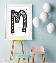 Letter M   ► Letters & Symbolen   Postersinhuis.nl