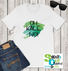 fff82573 Oh Kale No funny unisex t-shirt, Foodie shirt, food pun shirt, I hate Kale  gift, No Kale shirt