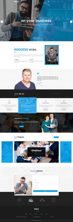 Finance, Business & Consulting PSD Template by creative-wp. professional clean and modern design PSD template for consulting and professional services Landing Page Inspiration, Website Design Inspiration, Design Ideas, Web Layout, Layout Design, Corporate Website, Branding, Psd Templates, Finance Business