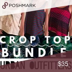 Crop Top Bundle! (Price Firm - See Description) 3 crop tops for 1 price. Price is FIRM because it includes both all 3 tops. Individual purchases can be made upon request ($15 each) - but it's cheaper to buy all through this bundled offer. **NOT Brandy Melville -- branded for exposure!** 2 from Urban - 1 from American Eagle Brandy Melville Tops Crop Tops
