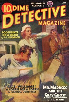 Dime Detective cover, from Davy Crockett's Almanack of Mystery, Adventure and The Wild West