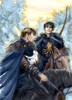 Jon Snow and Theon