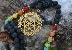 chakra*mala*Samen des Lebens*Mandala*Edelsteinhalskette*Lavagestein*Meditation*Yoga Jewelry*Energy*Türkis*Jade*Buddha*Gebetskette*108* von MoONAmasteWithLove auf Etsy