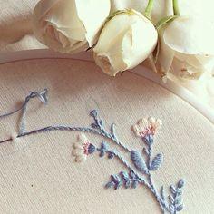 Detalhes  #detail #clubedobordado #bordado #order #unic #exclusive #flower…