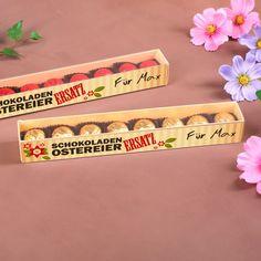 Schokoladenpralinen mit personalisiertem Osteretikett