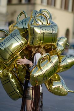 Birkin bag balloons...almost as cool as the piñata balloon (i want for my birthday)