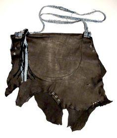 Bolso hecho a mano en cuero negro asá en Denim y por MuffyBolsos, €50.00