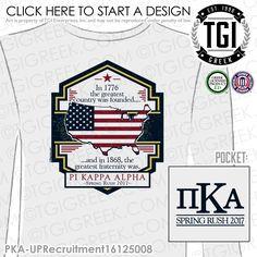 Pi Kappa Alpha | Pike | ΠΚΑ | Spring Rush | Rush | Brotherhood | Greek Life | TGI Greek | Greek Apparel | Custom Apparel | Fraternity Tee Shirts | Fraternity Tanks | Fraternity T-shirts