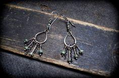 tribal rustic Sterling silver earrings African by entre2et7