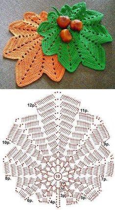 Great Absolutely Free Crochet coasters leaf Suggestions Original Pattern Here: Autumn Original Pattern Here: Autumn Motif Mandala Crochet, Crochet Leaf Patterns, Crochet Leaves, Crochet Fall, Crochet Motifs, Crochet Diagram, Crochet Chart, Crochet Home, Irish Crochet
