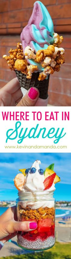 Where to Eat in SYDNEY! Sydney, Australia has the most AMAZING food scene! Here is the ultimate guide to foods you MUST try when you're in Sydney. (And trust me, it's NOT vegemite!) This post has me ready to hop on a plane right now! Australia Tourism, Perth Australia, Australia Hotels, Visit Australia, Travel Oz, Travel To Fiji, Foodie Travel, Traditional Australian Food, Best Restaurants In Sydney