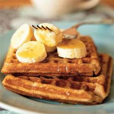 Banana-Cinnamon Waffles | MyRecipes.com