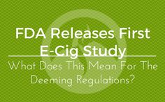FDA releases findings on it's first study! This is a step in the right direction!