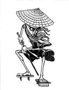 The Samurai - Pen and Ink - Jonathan Cazares - www.l3dezign.com - ©2012