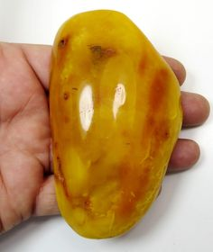HUGE Antique 90.21 grams Butterscotch EGG YOLK Orange Genuine BALTIC AMBER stone