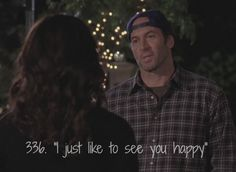 """""""i just like to see you happy"""" // luke & lorelai final episode {gilmore girls} Tv Quotes, Girl Quotes, Movie Quotes, Actor Quotes, Random Quotes, Crush Quotes, Luke And Lorelai, Lorelai Gilmore, Amy Sherman Palladino"""